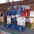 3.místo kumite žákyně BRH - Dominika Šabová (vpravo)
