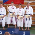 2.místo kata ženy - Kateřina Žídková, 3.místo - Petra Žídková (vpravo)
